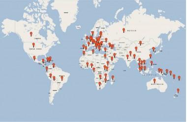 Alumni world map