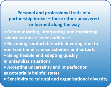 Traits of a Partnership Broker